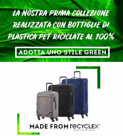 Our first collection made from 100% recycled PET bottles